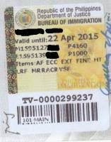 Philippines 9g Visa and Working Permit