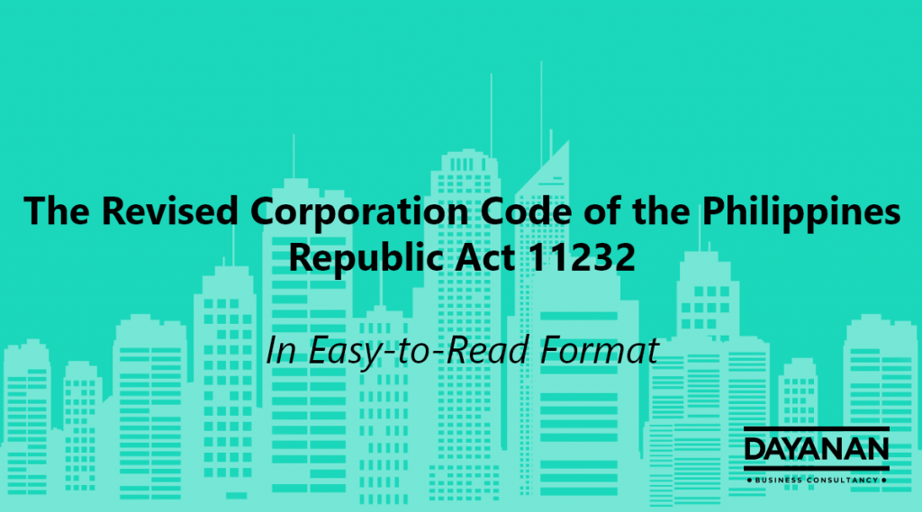 Revised Corporation Code of the Philippines RA 11232