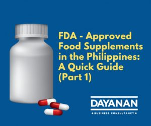 Philippines FDA how to register food supplements.